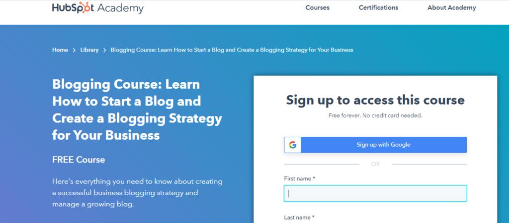 Business Bloggingby HubSpot Academy