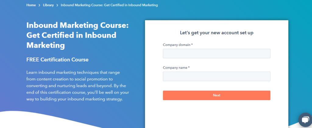 Inbound Marketing Course : HUBSPOT