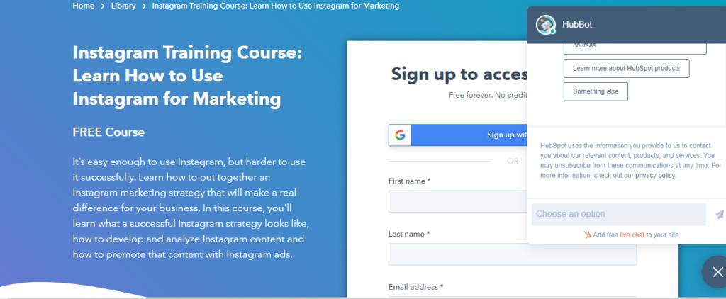 instagram training course