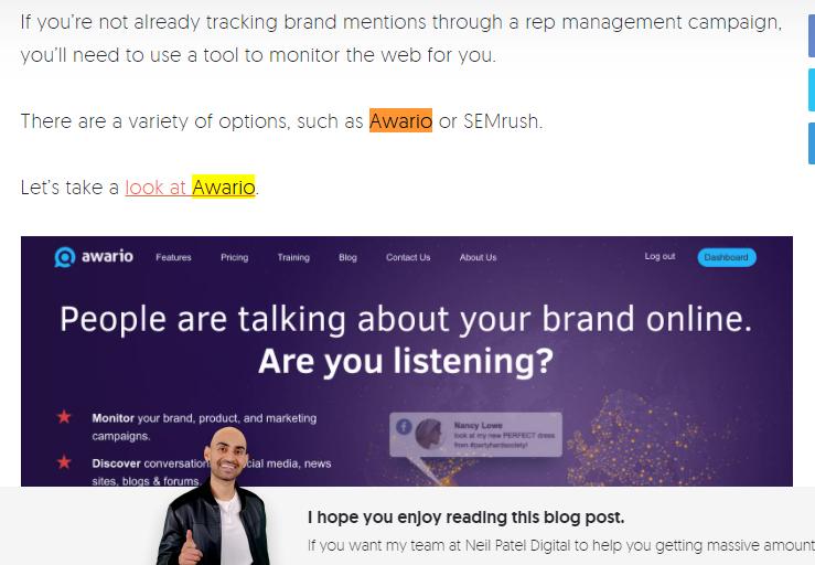 Awario- social media listening tool