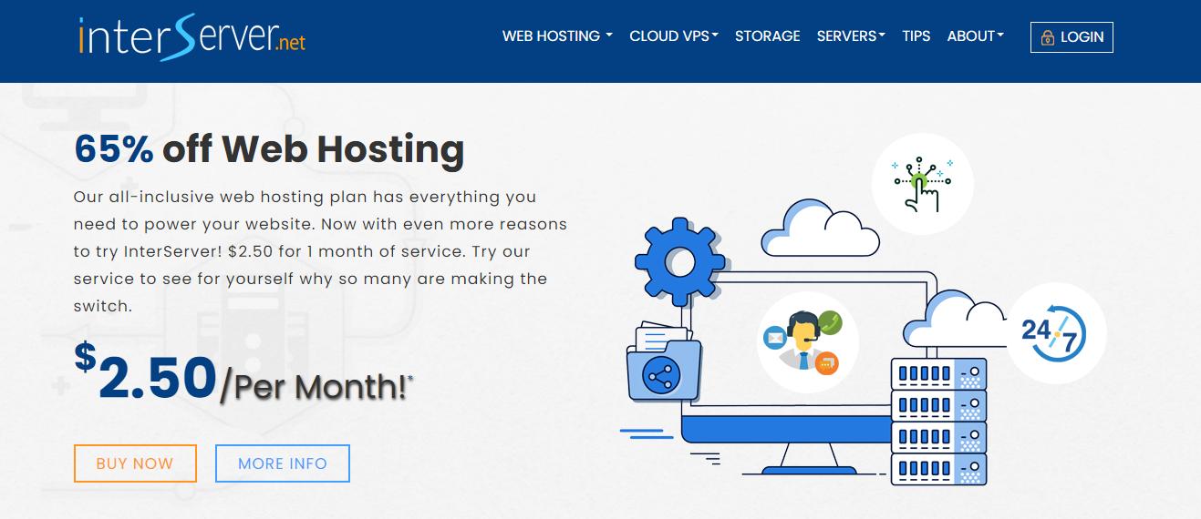 InterServer: Cheap Web Hosting Interface